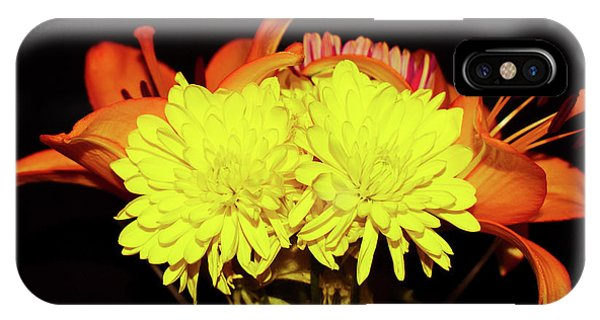 Yellow Mums And Orange Lilies  IPhone Case