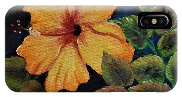 Yellow/orange Hibiscus IPhone Case
