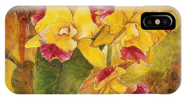 Yellow Orchids Acrylic IPhone Case
