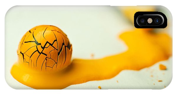 Yellow Painted Ball IPhone Case