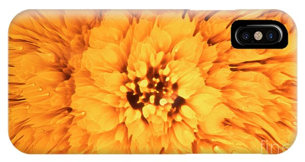 Yellow Flower Under The Microscope IPhone Case