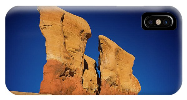 IPhone Case featuring the photograph Yellow Pillars by Edgars Erglis