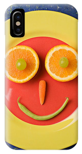 Yellow Plate With Food Face IPhone Case