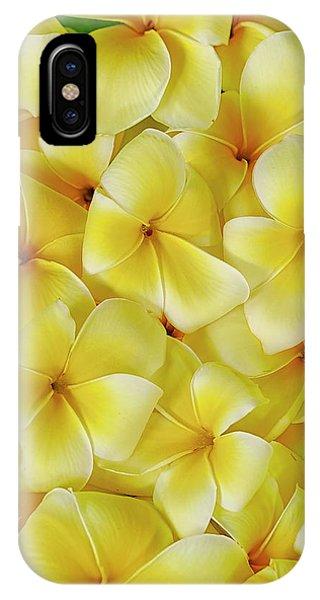 Yellow Plumerias IPhone Case