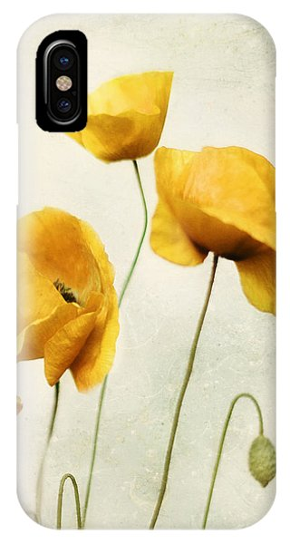 Yellow Poppies - Square Version IPhone Case