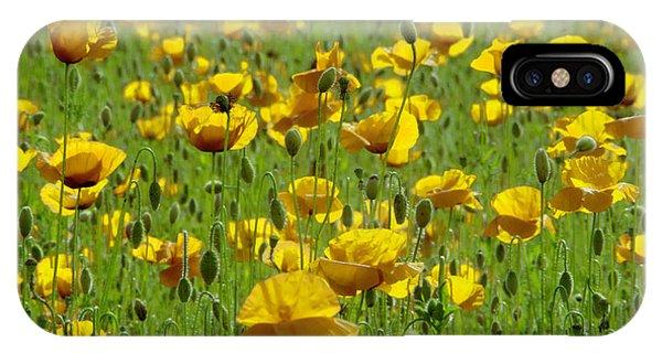 Yellow Poppy Field IPhone Case