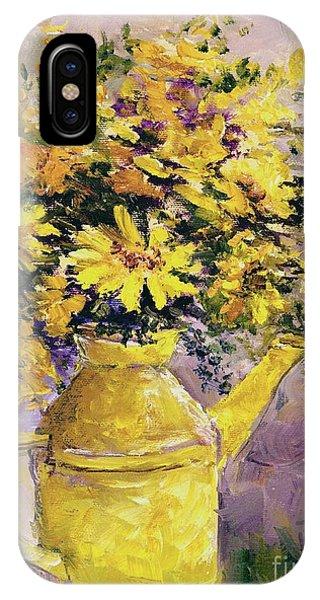 Yellow Pot Of Sunshine IPhone Case