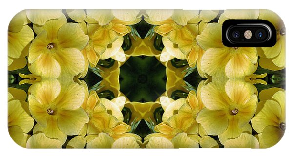 Yellow Primrose Kaleidoscope IPhone Case