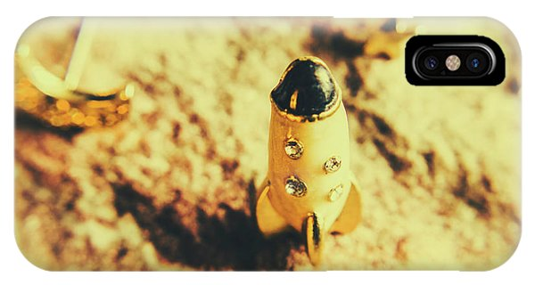 Explorer iPhone Case - Yellow Rocket On Planetoid Exploration by Jorgo Photography - Wall Art Gallery
