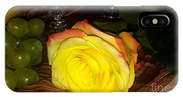 Yellow Rose And Grapes IPhone Case