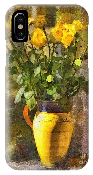 Yellow Roses Bouquet IPhone Case