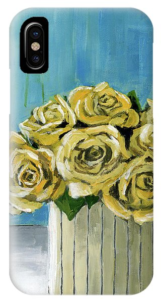 Yellow Roses In Vase IPhone Case