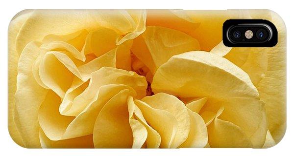 Yellow Ruffles - Rose IPhone Case
