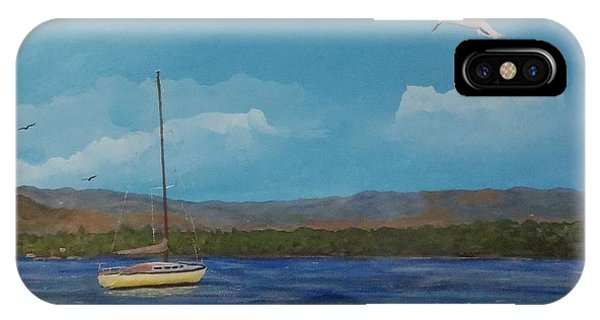 Yellow Sailboat IPhone Case