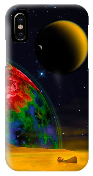 Yellow Sea On Kepler 186d IPhone Case