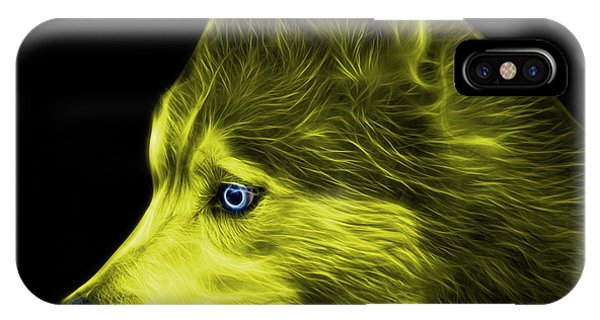 IPhone Case featuring the painting Yellow Siberian Husky Art - 6048 - Bb by James Ahn