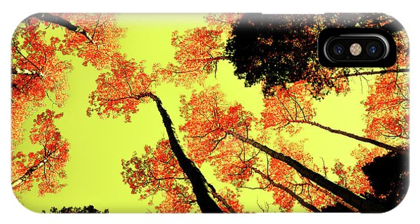Yellow Sky, Burning Leaves IPhone Case