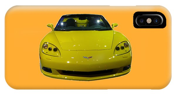 Yellow Sports Car Front IPhone Case