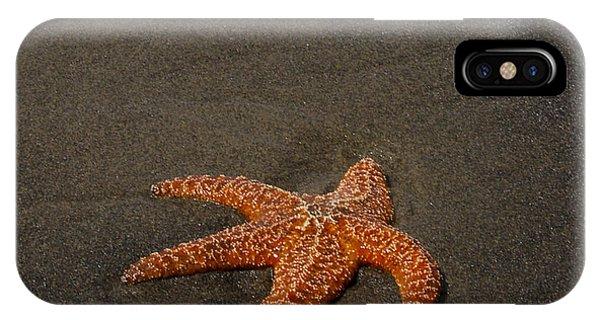 Orange Starfish On Oregon Beach IPhone Case