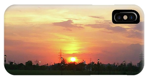 Yellow Sunset At Park IPhone Case