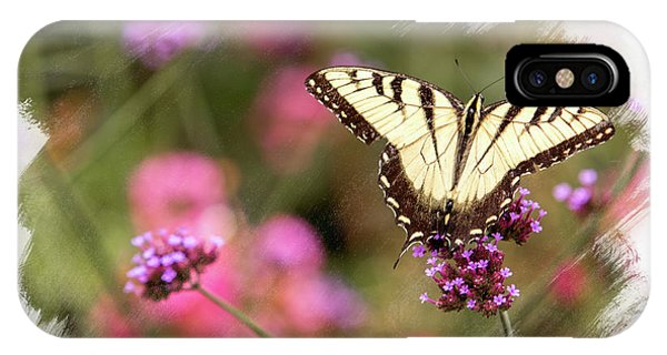 Yellow Swallowtail With Brushed Edge IPhone Case