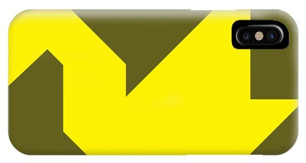Swanky iPhone Case - Yellow Swan Tangram by Roman Pshenitsyn