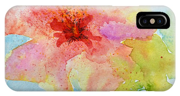 Yellow Tinged Hibiscus IPhone Case