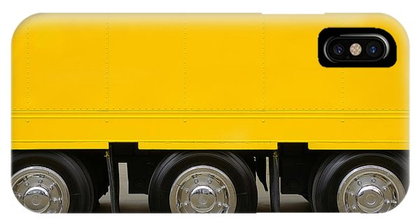 Trucking iPhone Case - Yellow Truck by Carlos Caetano