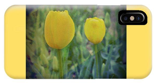 Yellow Tulip Art IPhone Case