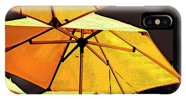 Yellow Umbrellas IPhone Case