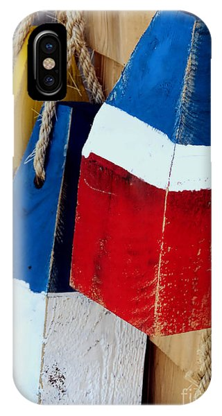 Yellow White Blue Red IPhone Case