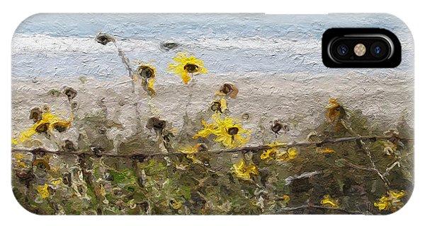 Barbara iPhone Case - Yellow Wildflowers- Art By Linda Woods by Linda Woods
