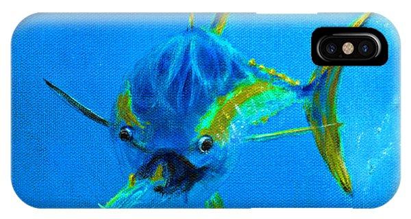 Reef Diving iPhone Case - Yellowfin Tuna Three by Ken Figurski