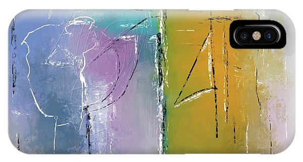 IPhone Case featuring the mixed media Yellows And Blues by Eduardo Tavares