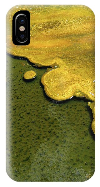 Yellowstone Art. Yellow And Green IPhone Case