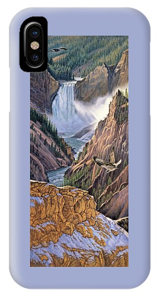 Yellowstone iPhone Case - Yellowstone Canyon-osprey by Paul Krapf
