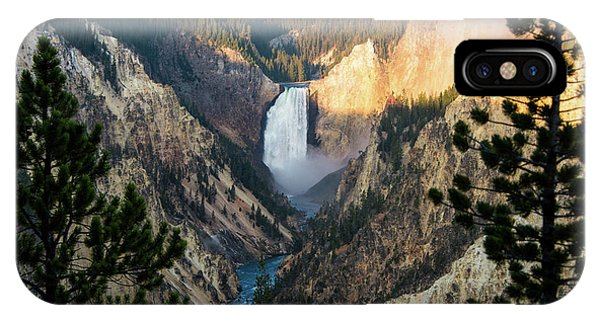 Yellowstone Falls IPhone Case
