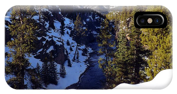 Yellowstone In Winter IPhone Case