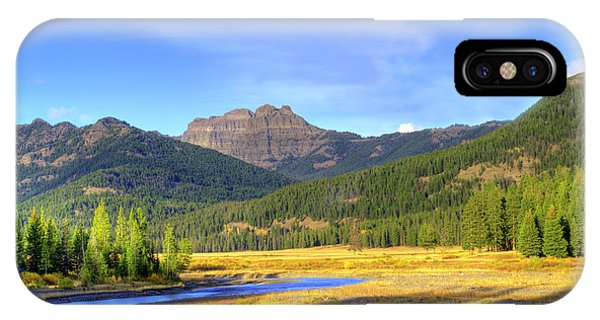 Yellowstone National Park Landscape IPhone Case