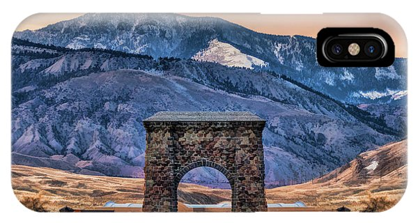 IPhone Case featuring the painting Yellowstone National Park North Entrance by Christopher Arndt