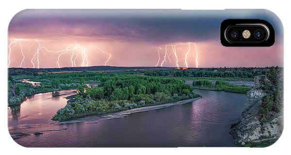 Yellowstone River Lightning IPhone Case