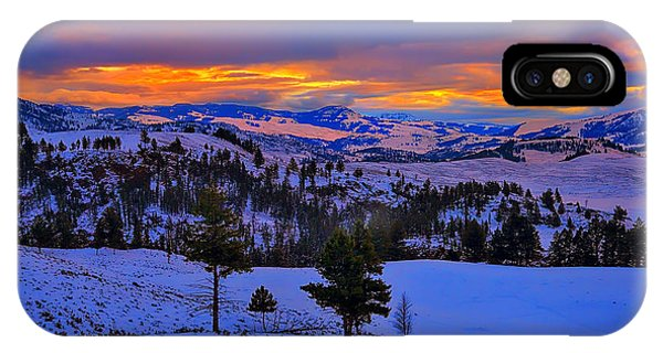 Yellowstone Winter Morning IPhone Case