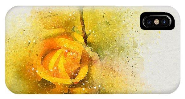 Yelow Rose IPhone Case