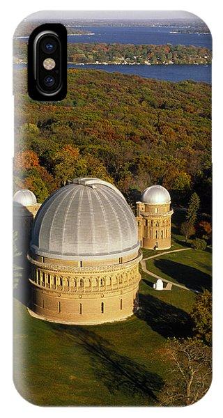 Yerkes Observatory - Aerial View - Lake Geneva Wisconsin IPhone Case