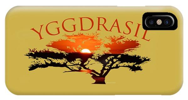 Yggdrasil- The World Tree IPhone Case