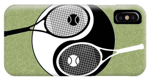 Venus Williams iPhone Case - Yin Yang Tennis by Carlos Vieira