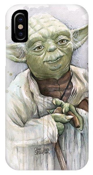 Nerd iPhone Case - Yoda by Olga Shvartsur