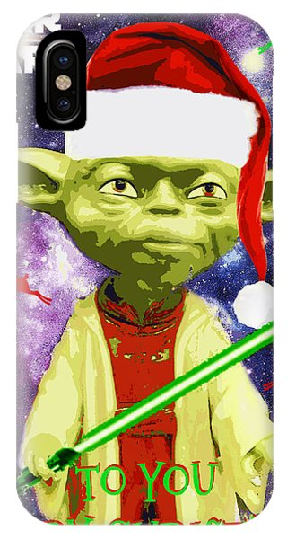 Yoda Wishes To You Merry Christmas IPhone Case