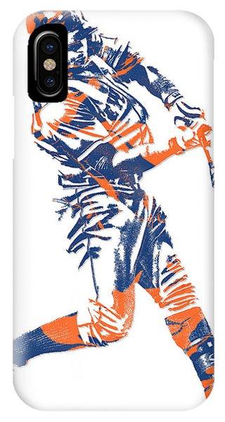 New York Mets iPhone Case - Yoenis Cespedes New York Mets Pixel Art 1 by Joe Hamilton