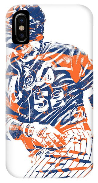 New York Mets iPhone Case - Yoenis Cespedes New York Mets Pixel Art 10 by Joe Hamilton